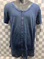 BLAIR Blue Top Women's Shirt Size M