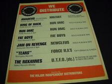 RUN DMC Fat Boys NEWCLEUS Force M.D.s MOZART UTFO 1985 Promo Poster Ad mint
