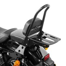 Sissy Bar rimovibile+portapacchi CSM per Harley Sportster 1200 Custom 04-20 nero