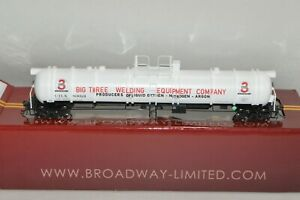 HO scale Broadway Limited Imports cryogenic tank car train BIG 3 INDUSTRIES GAS