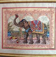 RARE Rajsh's Feast counted cross stitch kit, Elsa Williams Heritage collection.