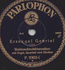 Erzengel Gabriel spricht 1931 die Weihnachtsdeklamation