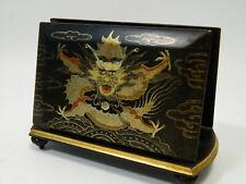 China Lackarbeit Brief Ständer  Drache Dragon Asiatika Antik
