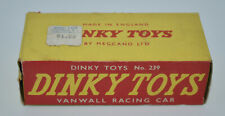Dinky Toys 239 Vanwall Racing Car BOX ONLY w/Original Price Tag NOT REPRO