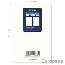 """Filofax Pocket Size """"Notebook"""" Paper Refill Insert - Dotted Paper (122016)"""