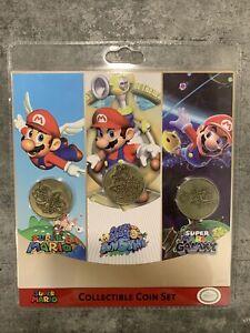 Official Nintendo Super Mario 3D All Stars Collectible Coin Set (3) BRAND NEW