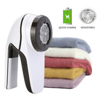 Rechargeable Electric Clothes Lint Pill Fluff Remover Fabric Fuzz Shaver 6-Blade