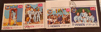 SPACE YEMEN 1969 V.RARE ASTRONAUTS STAMPS +S/SHEET USED MOON LANDING APOLLO 11 H