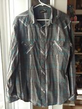 Men's Large Helix Button-down Casual Shirt