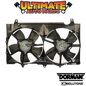 Radiator Cooling Fan (Dual Fan) (3.5L V6) for 07-09 Nissan 350Z (with A/C)