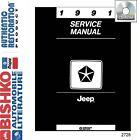 1991 Jeep Cherokee Comanche Wrangler Shop Service Repair Manual CD OEM Guide