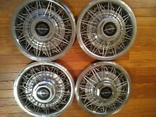 "Ford Thunderbird(OR ANY 14"" WHEEL) WIRE SPOKE HUBCAP SET Of 4 WHEEL COVERS 14"""