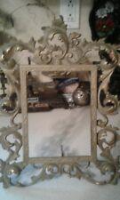 Ornate Vtg BRASS PICTURE FRAME w/ Easel Heavy Victorian Cast Metal