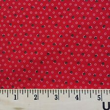 Fabric Cotton Mini Floral Red White Green Calico Quilt Craft Print