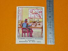 CHROMO CHOCOLATERIE DE L'UNION 1951 INVENTIONS TELEGRAPHE MORSE 1844