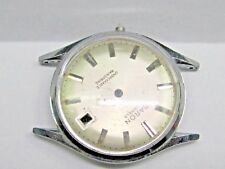 Vintage Gents Baron Date Stainless Steel Wrist Watch Co., Case ONLY.
