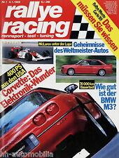 Rallye Racing 1/89 1989 BMW M3 Corvette ZR 1 Volvo 480 Turbo Kadett GSi Gruppe A