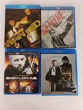 4 Blu Ray Action Pack Max Payne(New) Casino Royale Babylon AD Wanted 2-Disc Set