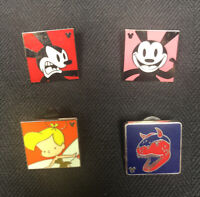 Lot 4 Hidden Mickey Square Disney Trading Pins Tinker Bell Dinosaur Mickey