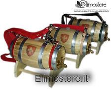 Botte Botti legno castagno per cane San Bernardo 1 lt  litro con croce svizzera