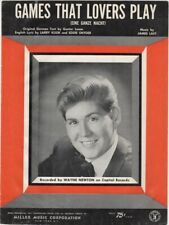 Games That Lovers Play, Wayne Newton Photo, Vintage Sheet Music, 1966