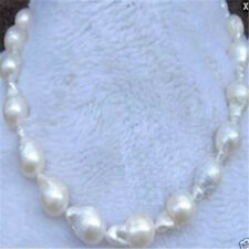 15-25mm white south sea baroque pearl necklace 18 inches Jewelry Chic Fashion