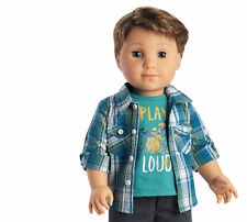 NEW American Girl 1st BOY DOLL Logan Everett & MEET OUTFIT Tenney Band Mate BOX