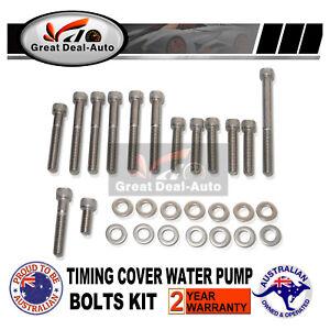 For HOLDEN 253 304 308 V8 STAINLESS STEEL TIMING COVER / WATER PUMP BOLT KIT