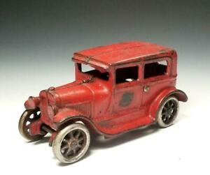 1928 ALL ORIGINAL Arcade 5 inch FORD MODEL A SEDAN #118 w.NICKEL WHLS for CARRIE
