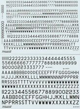 Xtradecal 1/72 RAF Post War Serial Letters and Numbers Black # 72065