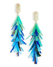Kendra Scott Justyne Statement Shell Blue Drop Earrings