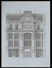 PARIS, MAGASINS REUNIS - 1870 - PLANCHE ARCHITECTURE - GABRIEL DAVIOUD