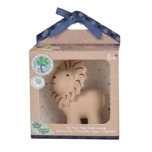 Tikiri Pure Natural Rubber Lion Rattle & Bath Toy Gift Boxed