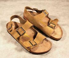 Birkenstock Sandals Men's Size 10 Light Brown Beige Suede EUR 43