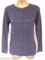 New A Wear Top Size 8 10 12 14 Navy Burgandy Fine Knit Jumper BNWT Spring Summer