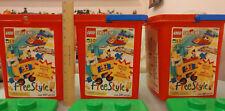 Lego Lot of 3 Storage Container Bucket Tub + Lid Stackable EMPTY NO PIECES 1796