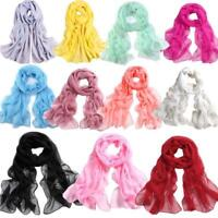 Perfect Girls Women Long Soft Thin Wrap Lady Shawl Chiffon Scarf Beach Scarves T