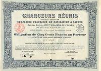 Chargeurs Reunis SA, Compagnie de Navigation a Vapeur, obligacion, Paris, 1921
