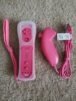 Nintendo Wii Remote and nunchuk Pink New still has protective film