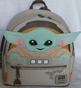 Disney Parks Loungefly Star Wars Mandalorian Baby Yoda Backpack Pre-owned