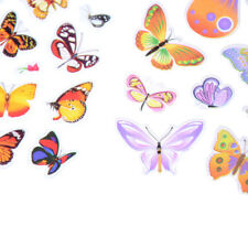 5 Sheets Colorful 3D Butterflies Scrapbooking Bubble Puffy Stickers TB
