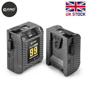CGPro 99Wh Pocket Size V-Mount Battery 15A 6875mAh 2x D-Tap 2x USB-A UK Stock