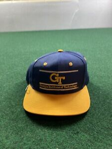 Vintage Georgia Tech Institute Of Technology Yellow Jackets Cap Hat The Game