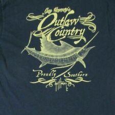 Guy Harvey - Outlaw País - Bolsillo Camiseta - Pequeño - Azul Marino B430