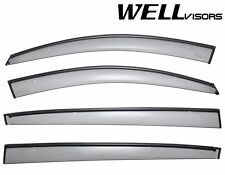 For 11-UP Kia Sportage WellVisors Side Window Deflectors Visors W/ Black Trim
