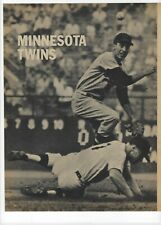 1960 Minnesota Twins Major League Baseball Magazine 2 Full Pages Print Ad