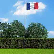 More details for vidaxl france flag and pole aluminium 6.2m outdoor pole halyard pole kits