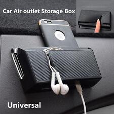 Carbon Fiber Texture Style Car Air Outlet Storage Box For Phone Cigarette Ticket