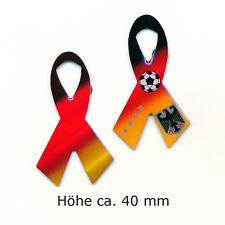 2 große Deutschland Schleifen für Fußball EM WM Olympia Edel Pin Anstecker 0874