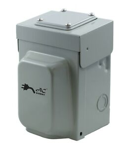 30A 125V NEMA L5-30P 3-Prong Temporary Power Inlet Box by AC WORKS®